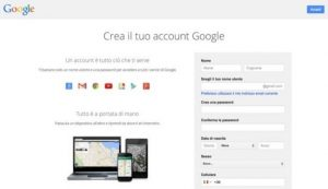 come apriire un account su gmail